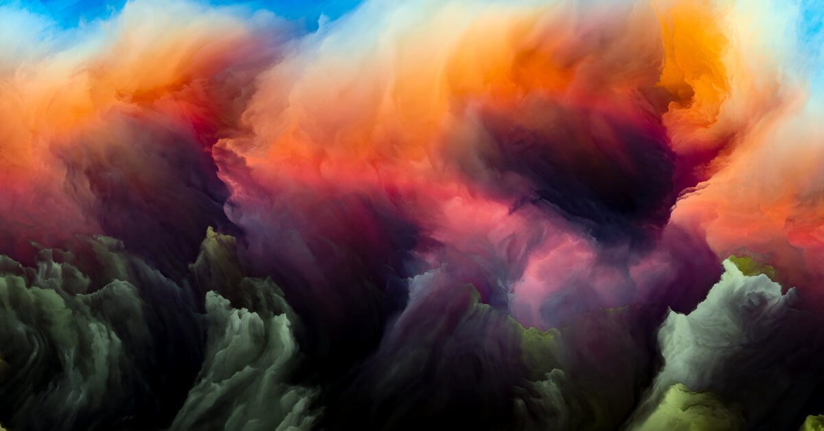 Painted Abstract Colorful Clouds