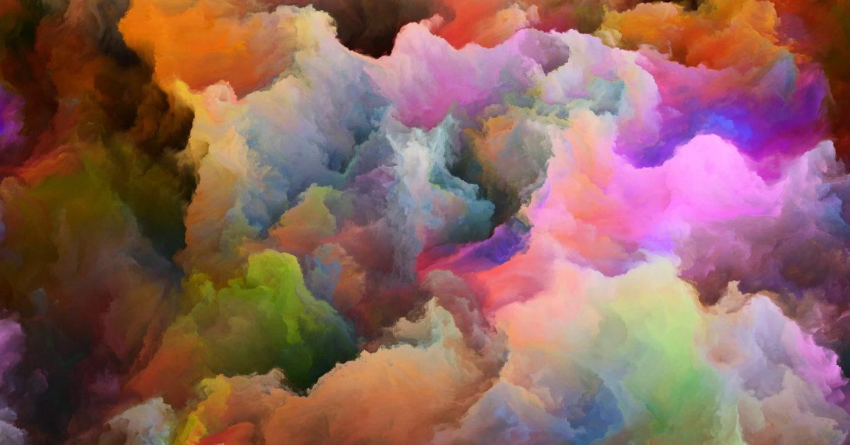 Painted Abstract Colorful Cloud